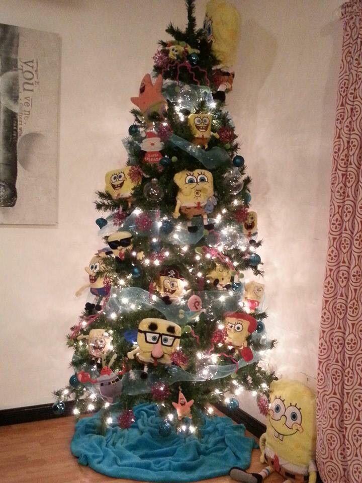 spongebob christmas tree christmas tree themes christmas fun holiday decor spongebob christmas