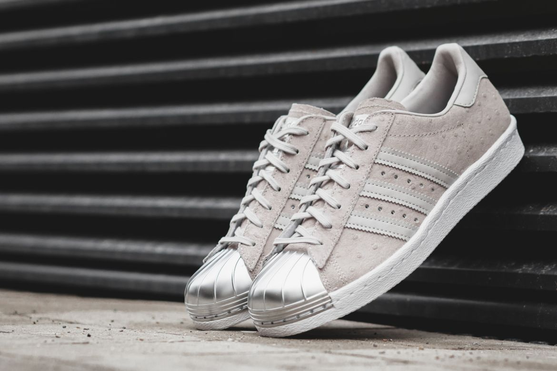 adidas superstar metal toe clear grey