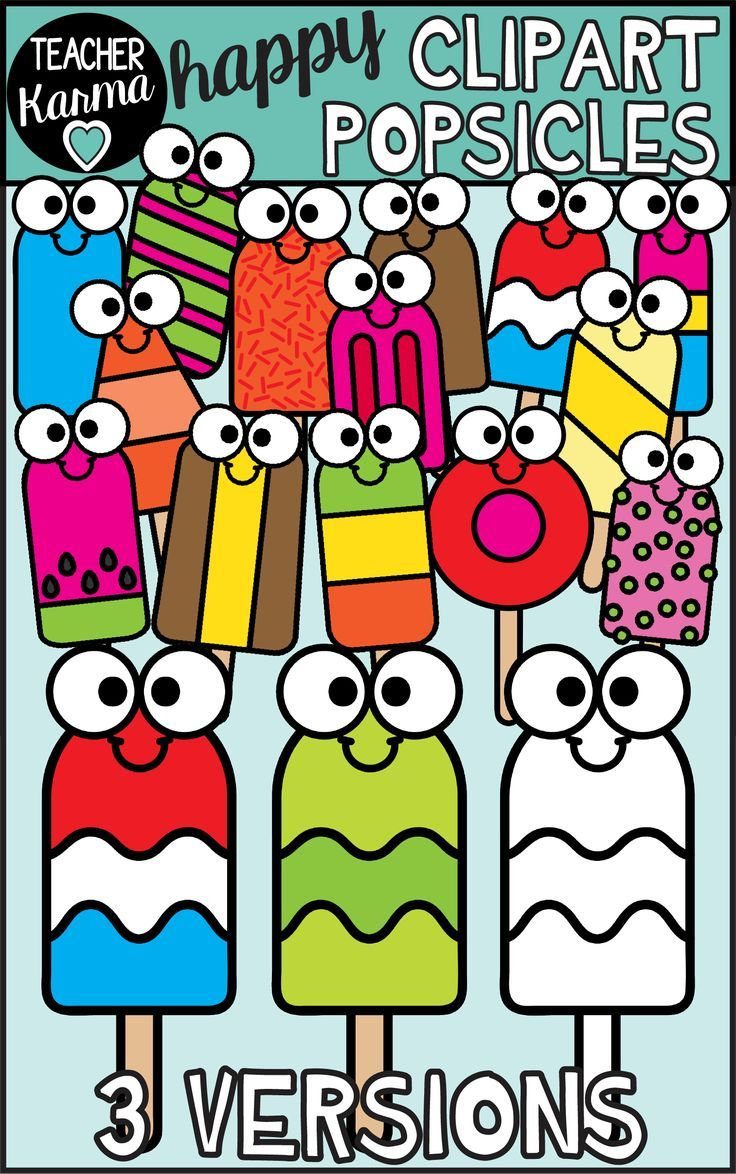 Popsicles Clipart Happy Style Clip Art Teacher Freebies Happy Sticky Notes