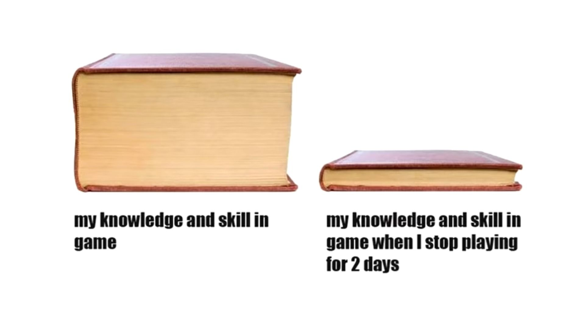 When I Don T Play A Game For 2 Days Gaming Memes Games To Play Noob