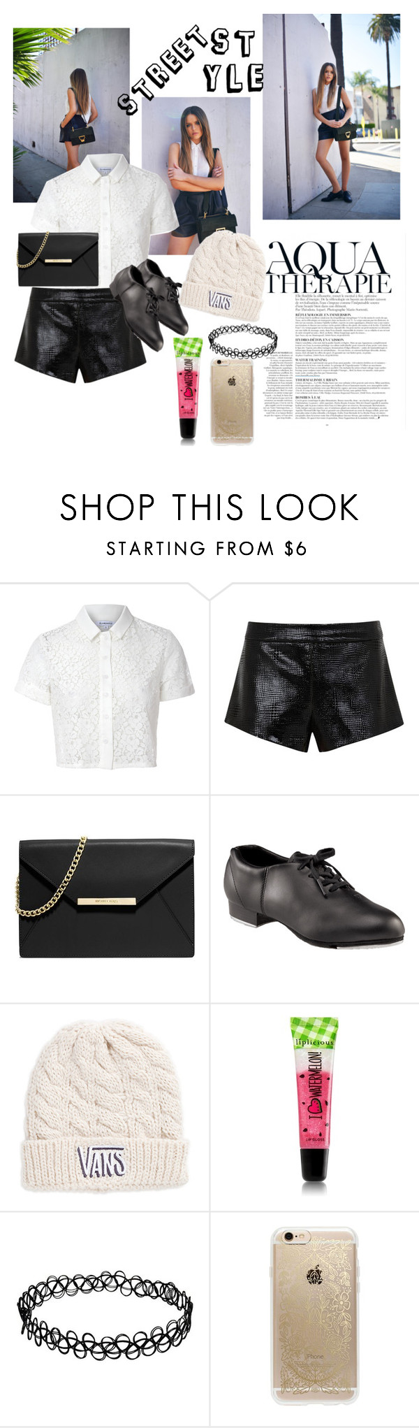 """street style"" by berry-queen ❤ liked on Polyvore featuring Anja, Glamorous, Mason by Michelle Mason, MICHAEL Michael Kors, Capezio Dance, Vans and Rifle Paper Co"