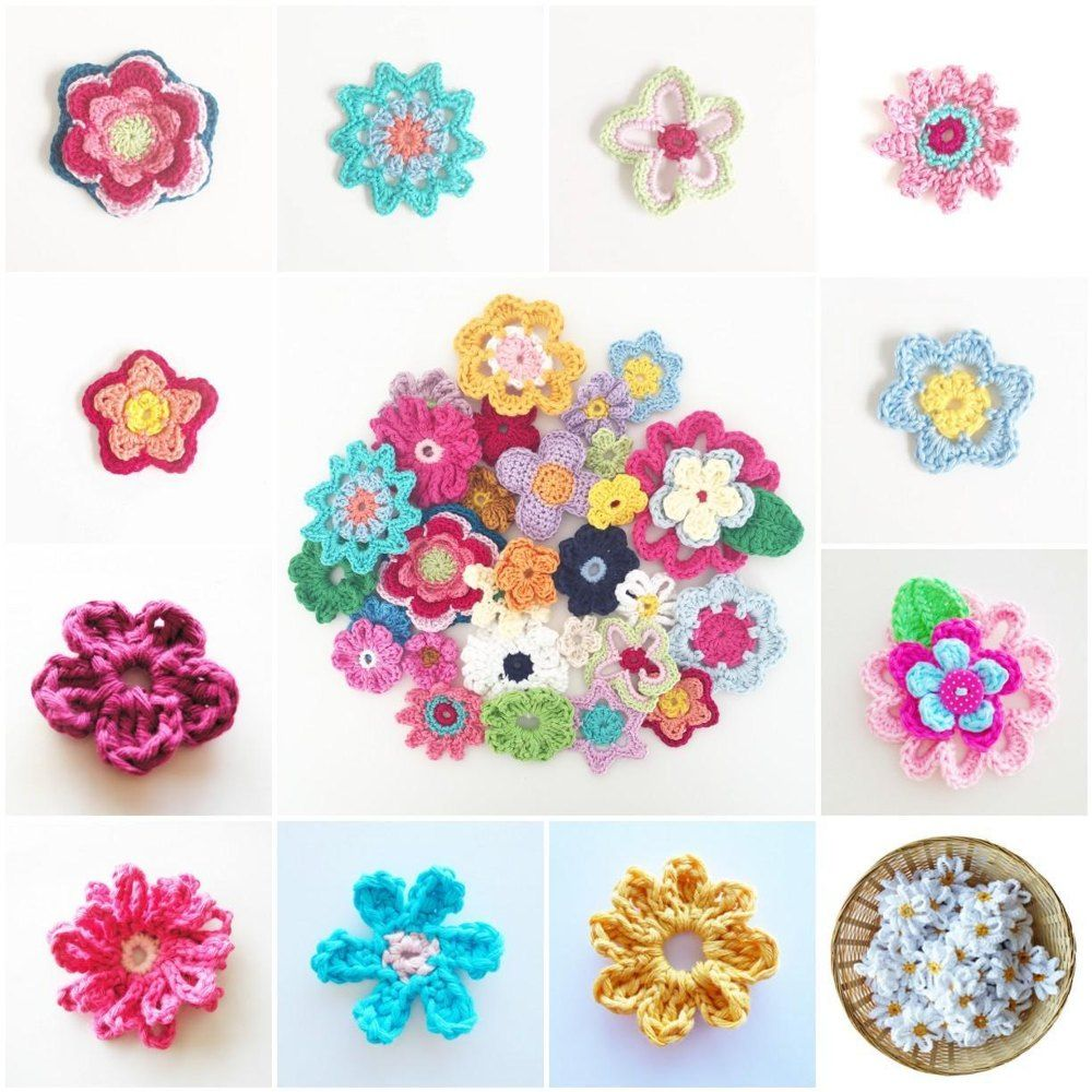 I made an Ebook with all the flowers that I designed since I started crocheting. It is the full collection that is available on my blog, but now in just one easy to download PDF.You can make these flowers with any yarn you like, but I used Phildar Coton 3, Phildar Coton 4 or Drops Paris to make these flowers.Happy crocheting! :-)