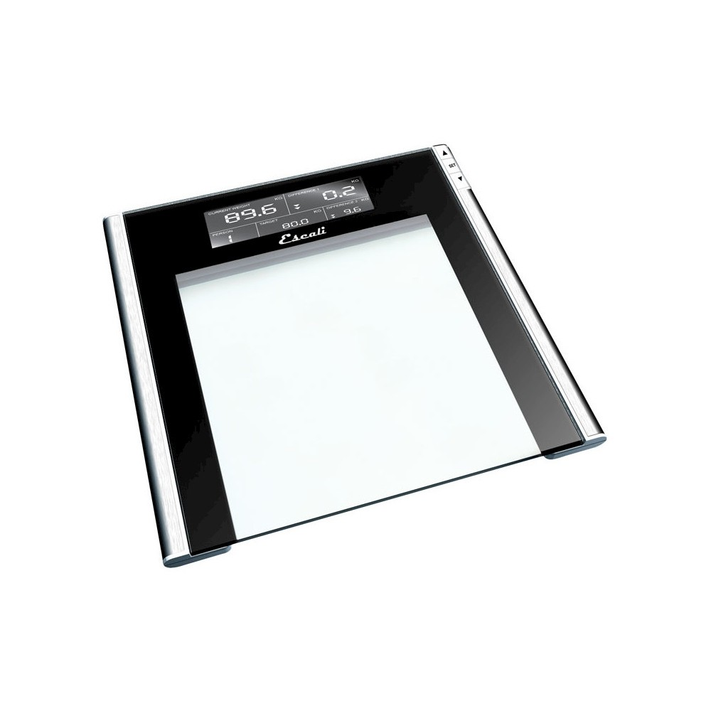 Personal Scale Black/Clear - Escali, Adult Unisex ...