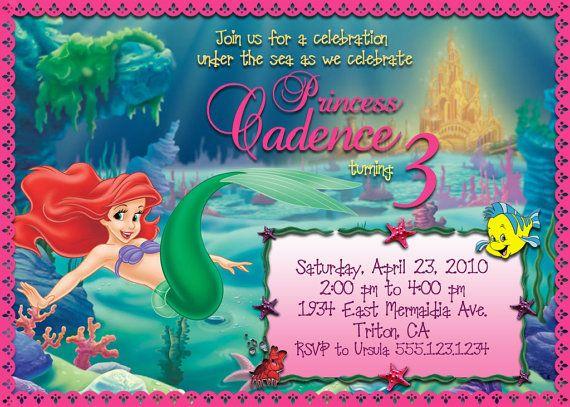 Printable Little Mermaid Birthday Invitation On Etsy 1200
