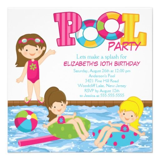 Brunette Girl Birthday Pool Party Invitation today price drop and special promotion. Get The best buyHow toReview from Associated Store with this Deal...