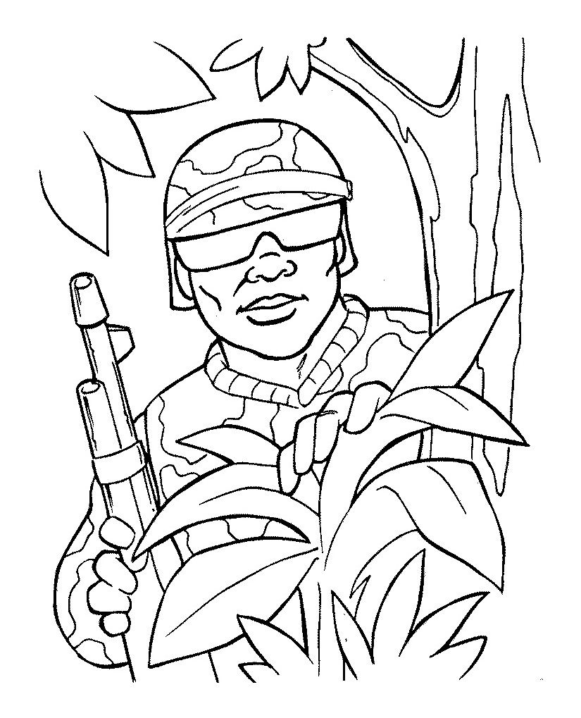 Free Printable Army Coloring Pages For Kids Coloring Pages