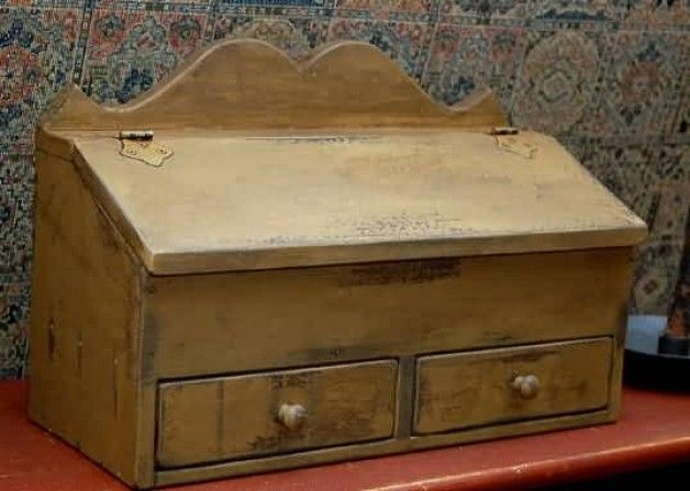 Cat In A Bread Box Alluring Two Drawer Lift Top Primitive Box  Old Boxes Crates & Trunks Inspiration