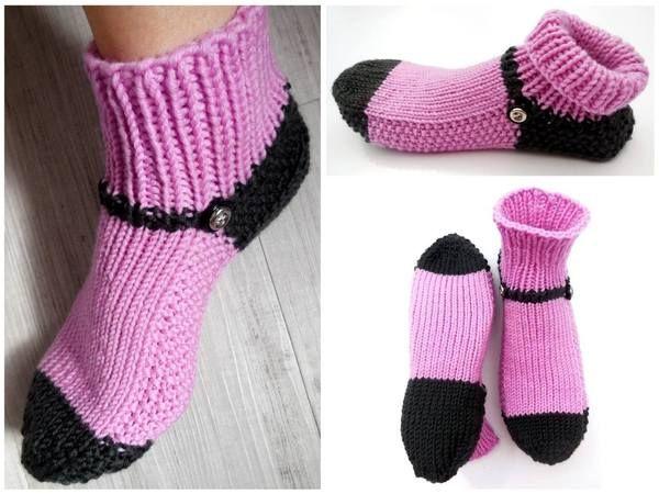 Jetzt Mit Der Pdf Strickanleitung Socken Haussocken Hausschuhe
