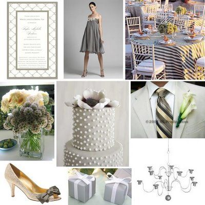 grey + white wedding... love the striped table cloth! | Wedding ...