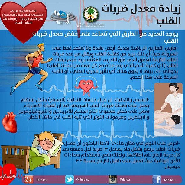 زيادة معدل ضربات القلب Health And Beauty Tips Health Health Care