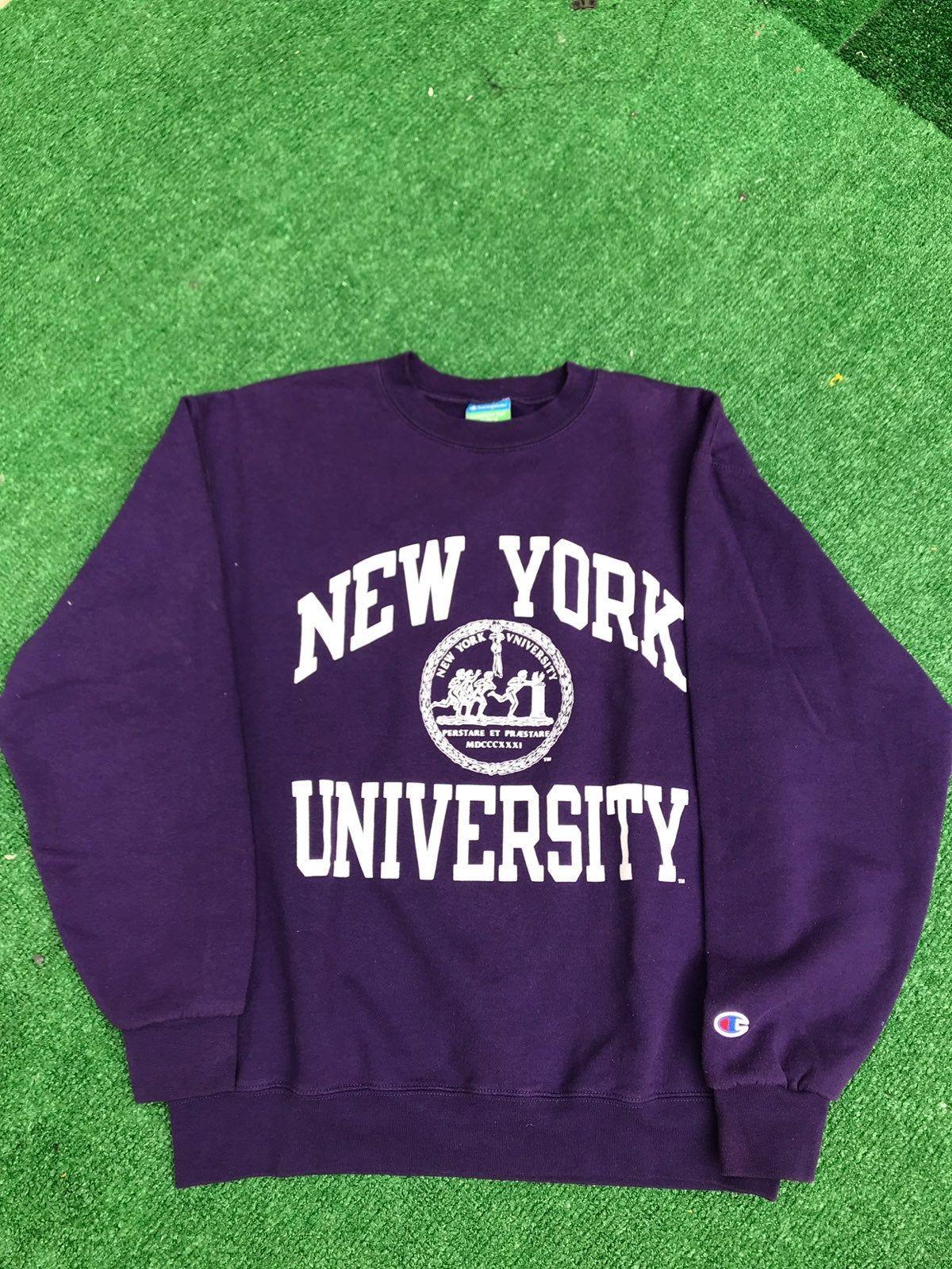 Nyu Champion Crewneck Sweatshirt Sweatshirts College Sweatshirts Hoodie Nyu Sweatshirt [ 1600 x 1200 Pixel ]