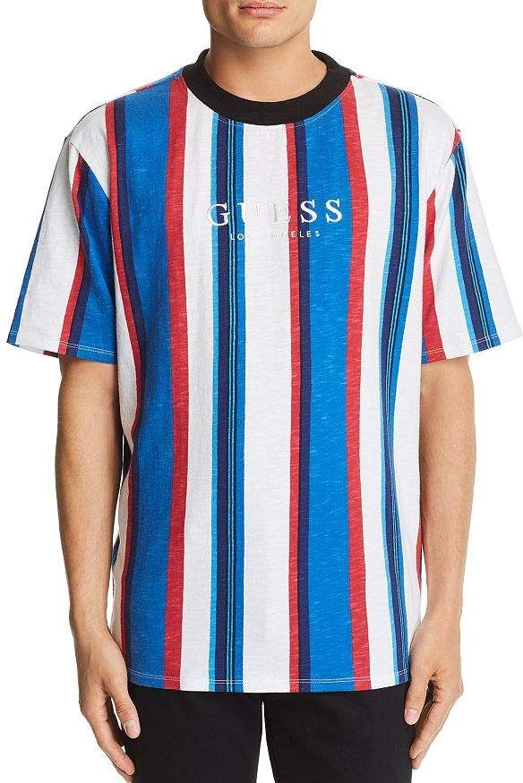 0259a40c137a GUESS Go Sayer Striped Tee in 2019 | Products | Striped tee, Shirts ...