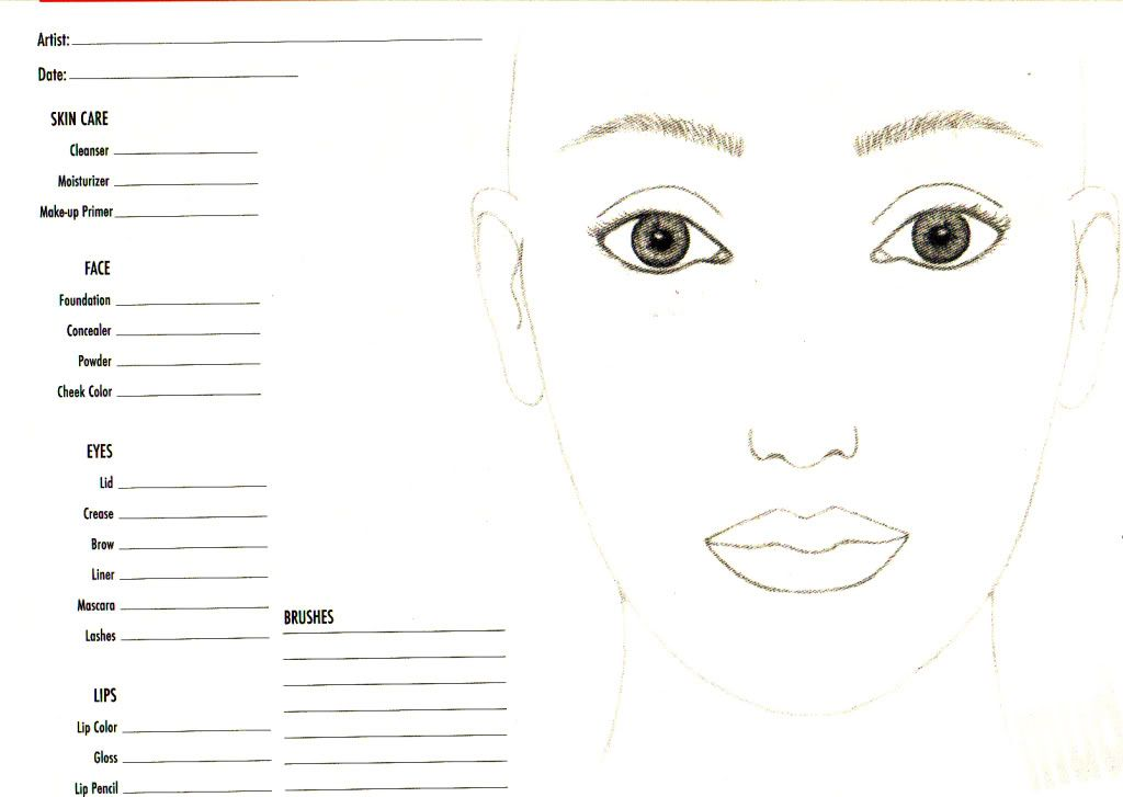 Free Printable Face Charts For Makeup