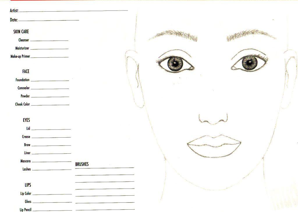 NessasaryMakeup Face Charts Makeup inspiration Pinterest - blank t chart