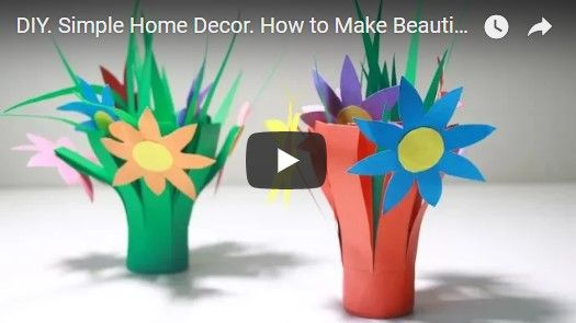 Simple home decor how to make beautiful flower roll with color paper also diy rh pinterest