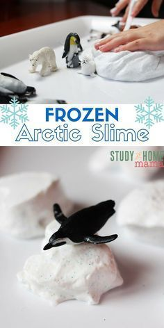 Snow Slime FROZEN Arctic Slime - two great sensory play materials in one! Make sparkly snow slime and then freeze it for a fun adventure in texture, temperature, and Arctic sensory play.FROZEN Arctic Slime - two great sensory play materials in one! Make sparkly snow slime and then freeze it for a fun adventure in texture, temperature, and Arctic sensory play.