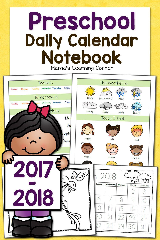 Preschool Calendar Notebook | Activities For Brooklyn