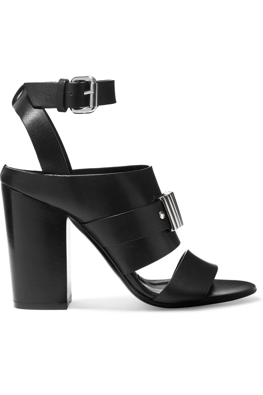 McQ Alexander McQueen Leather Embellished Sandals sale online shopping clearance enjoy X9FIKlJE
