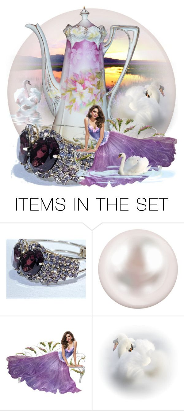 """Evening Swim"" by pattysporcelainetc ❤ liked on Polyvore featuring art, vintage and country"