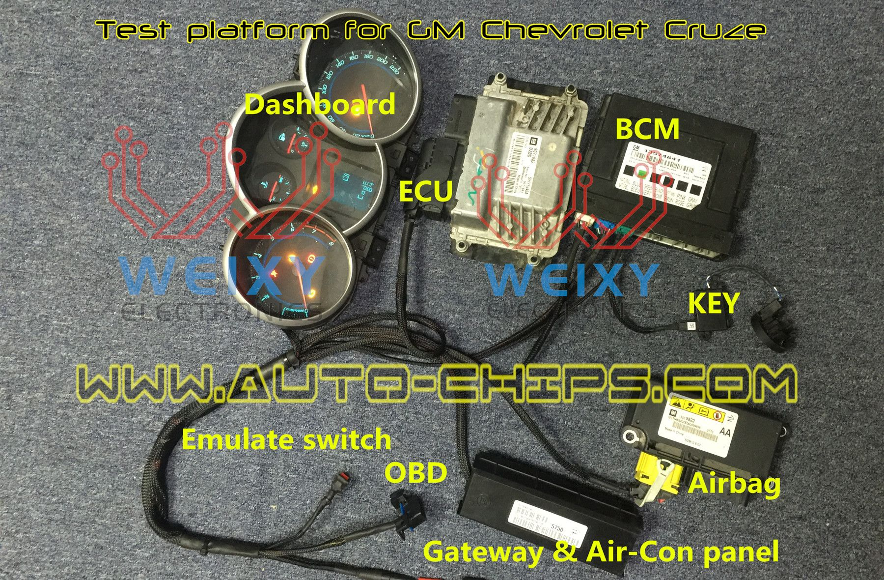 small resolution of test platform for gm chevrolet cruze enable programing keys on bench restore airbag ecm