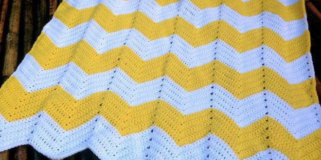 20 Super Easy Crochet Patterns For Beginners Chevron Baby Blankets