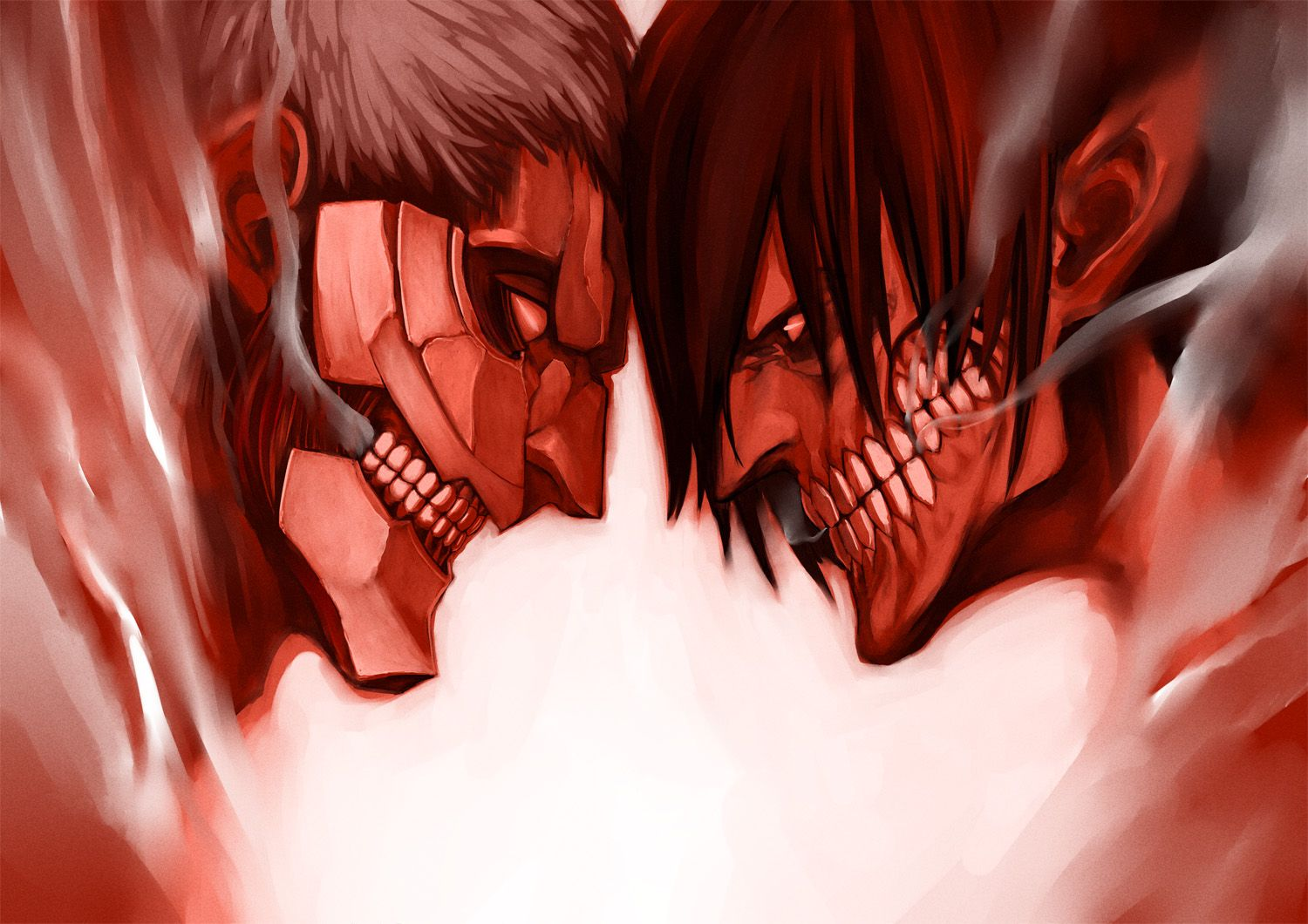 attack on titan eren vs armored titan