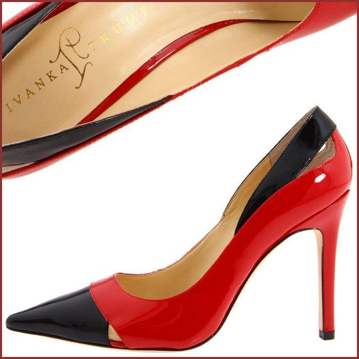 Ivanka Trump High Heel Red-Black Shoes