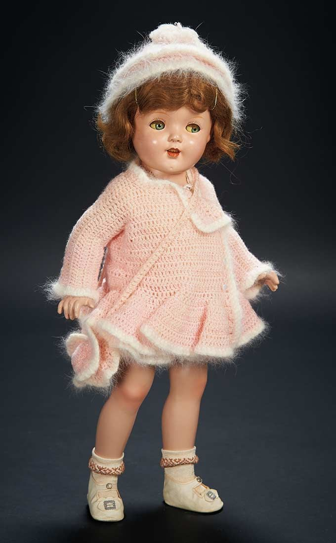 14ab3e784a2d Love, Shirley Temple, Collector's Book: Lot # 334 American Composition Doll  in Exclusive Knit Costume from Shirley Temple Doll Collection