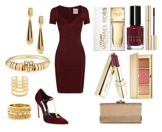 """""""Без названия #2299"""" by southerncomfort ❤ liked on Polyvore featuring Brian Atwood, Hervé Léger, Judith Leiber, Chico's, Chloé, Wouters & Hendrix, Stella & Dot, MICHAEL Michael Kors, Bobbi Brown Cosmetics and Dolce&Gabbana"""