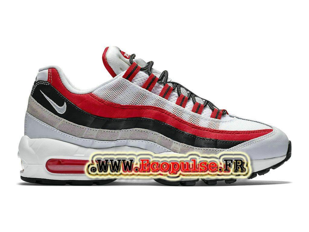 timeless design de7b2 f9c7d Nike Air Max 95 Essential Chaussures de Basketball Nike Pas Cher Pour Homme  Blanc Rouge