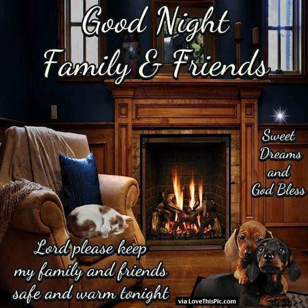 Goodnight Family And Friends God Bless You | good night