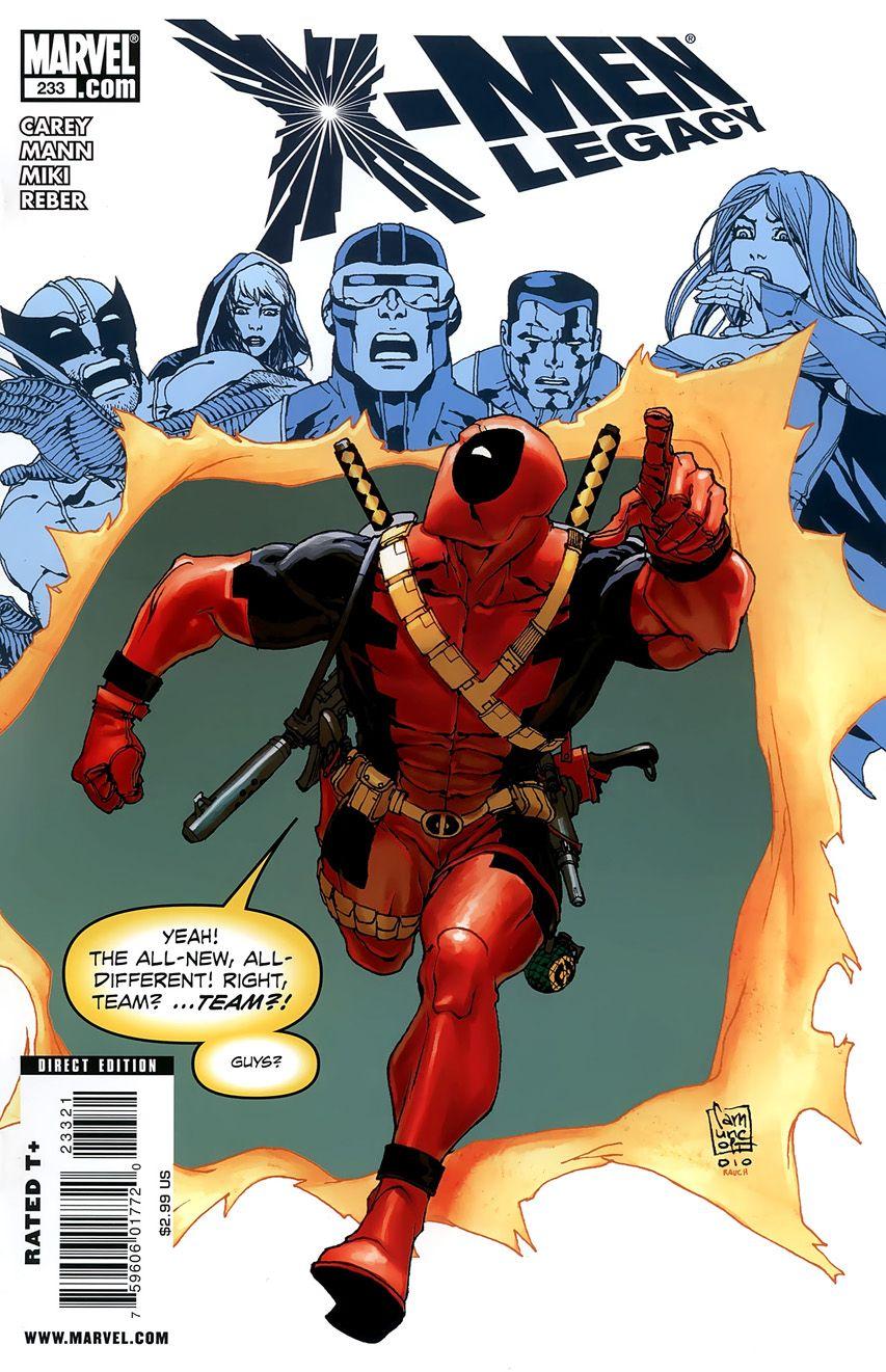 X Men Legacy Vol 1 233 Deadpool Variant Marvel Comic Books Comics Marvel Comics