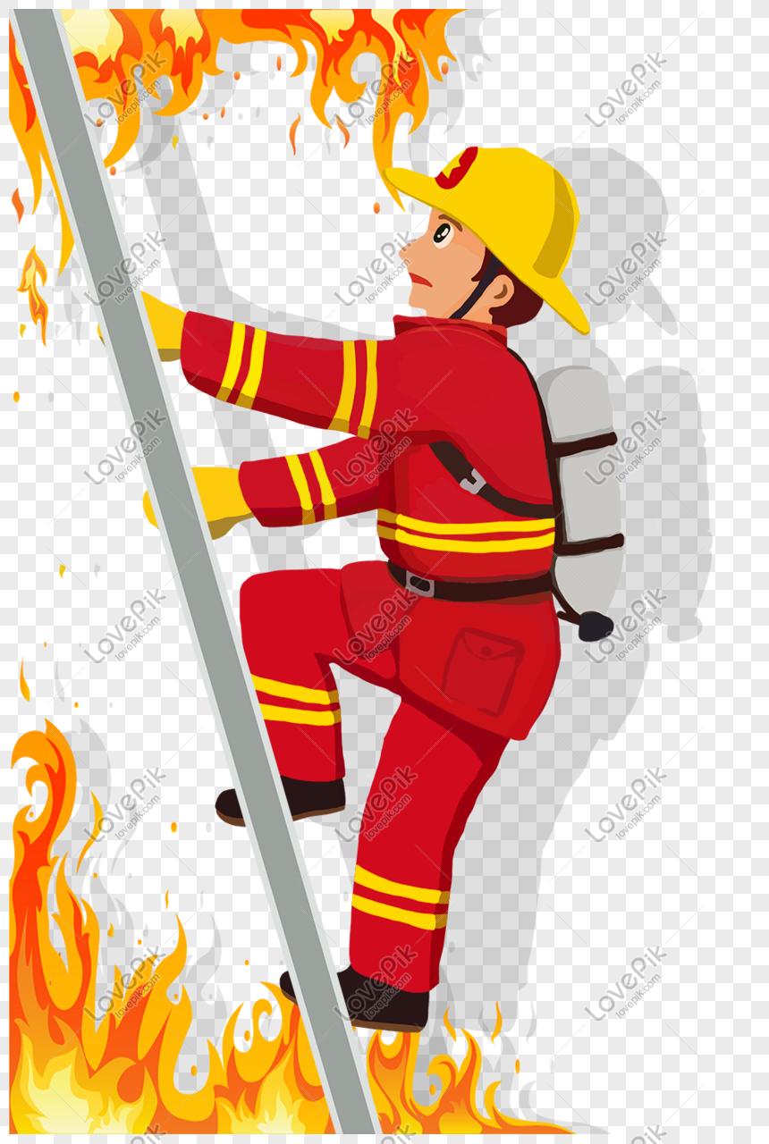 حرف الاحتلال موضوع رجل الاطفاء التوضيح Desenho Bombeiro Web And App Design Design De Pagina