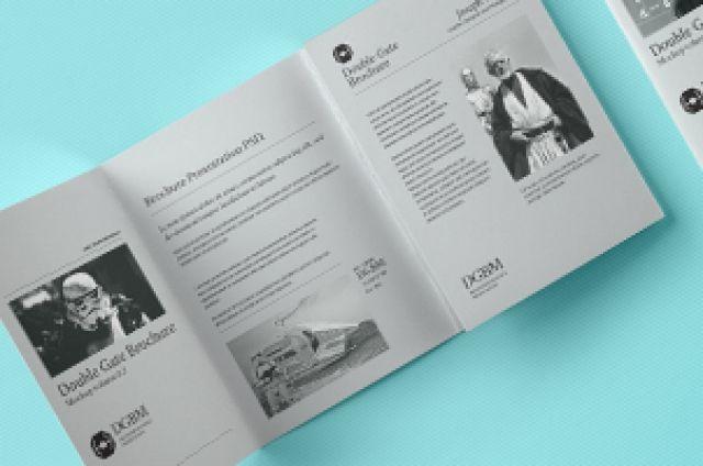 Psd Double Gate Fold Brochure Vol3 | Psd Mock Up Templates