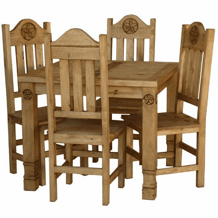 Star Rustic Square Dining Table And