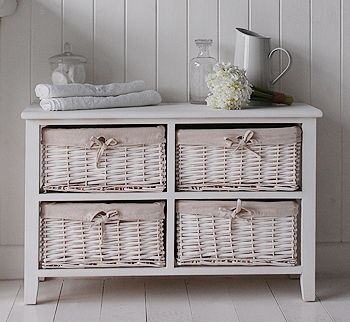 White Storage Cabinet With Baskets Google Search