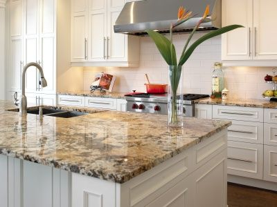 Mascarello Granite Countertop With Dover White Aspect