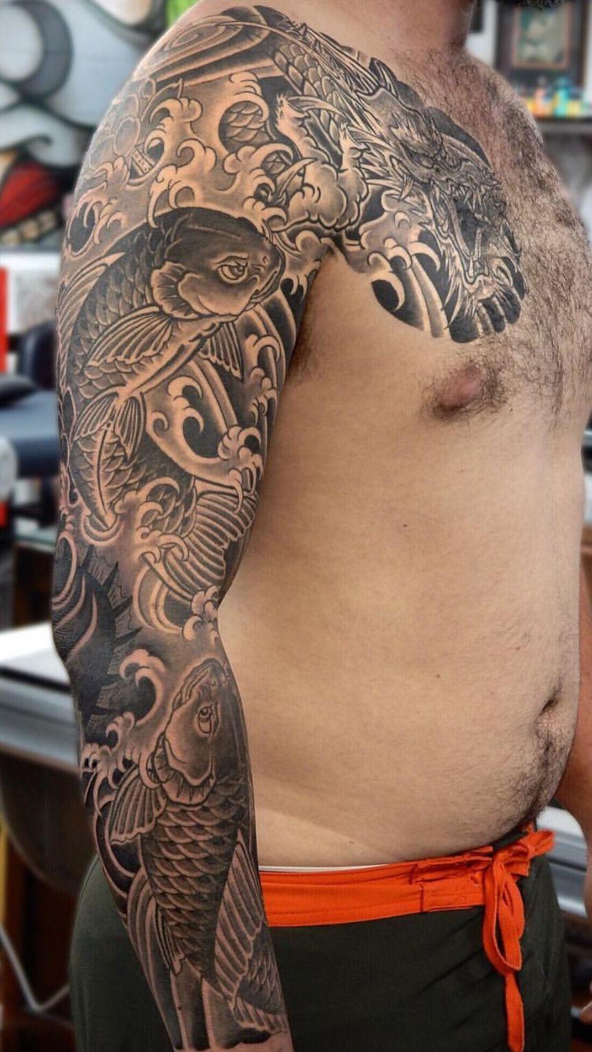 Tattoos for men koi fish кДтёρσℓє  Идеи для татуировок  pinterest  tattoos koi fish