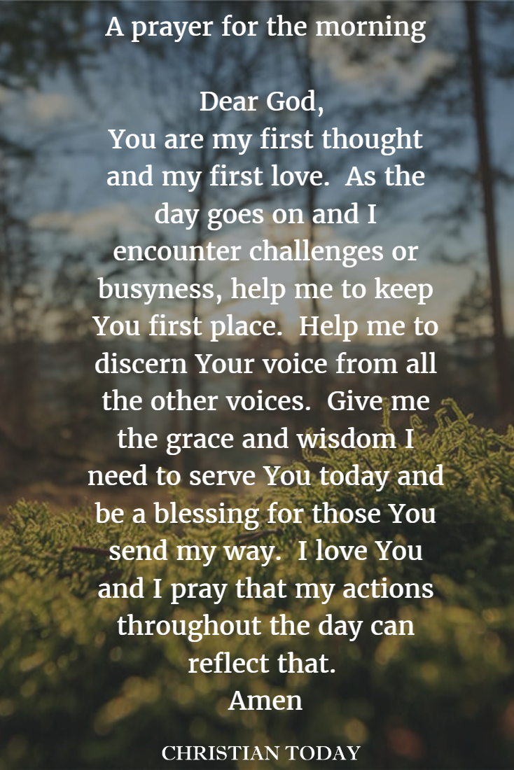 A prayer for first thing in the morning to start your day on the