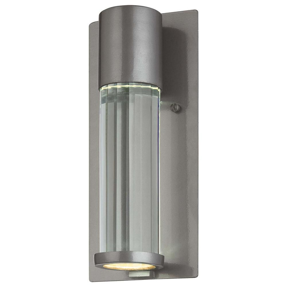 Soare light tinted silver outdoor wall mount lantern outdoor