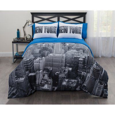 Photoreal New York City Bed In A Bag Comforter Set By Casa