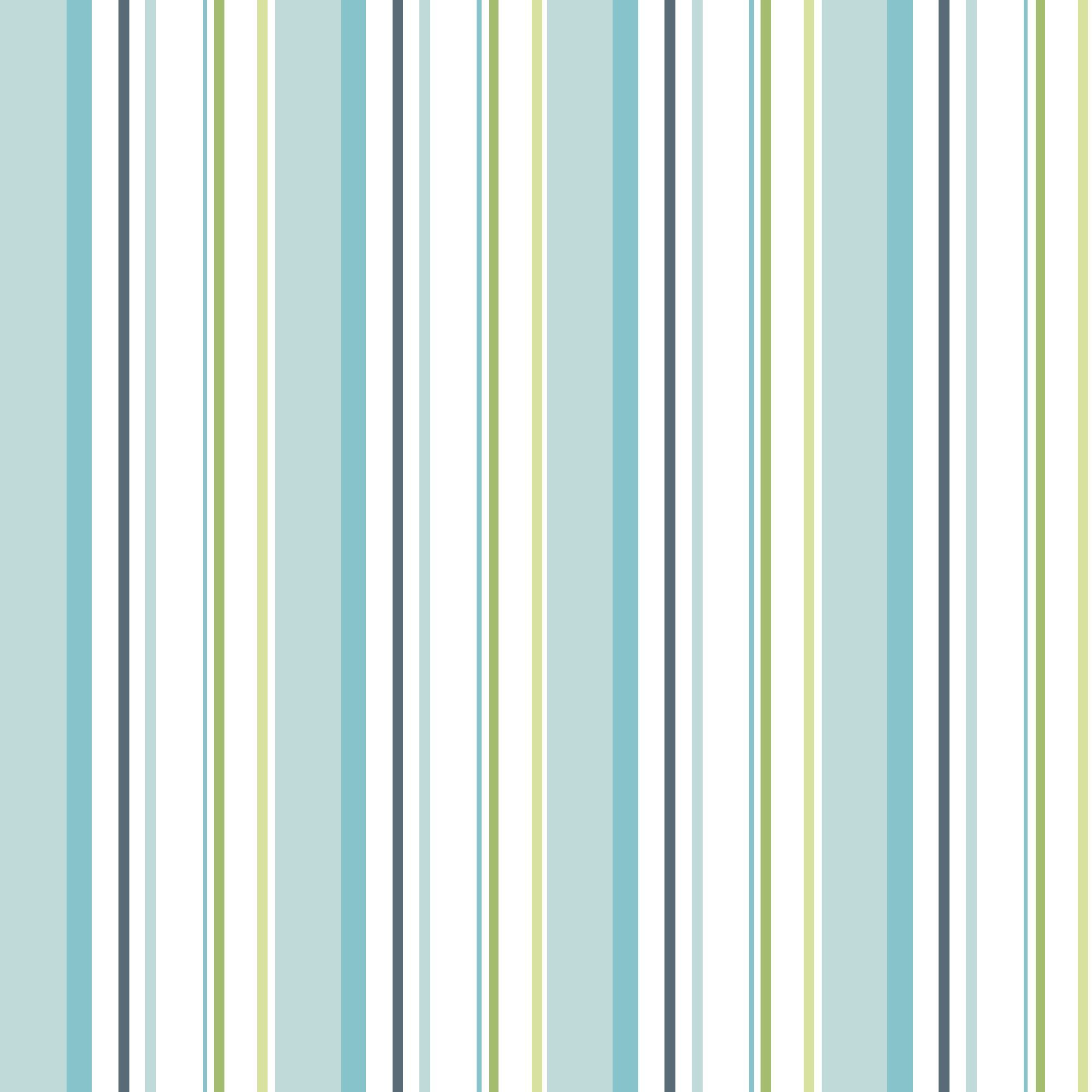 Colours Paste The Wall Multistripe Blue & Green Wallpaper
