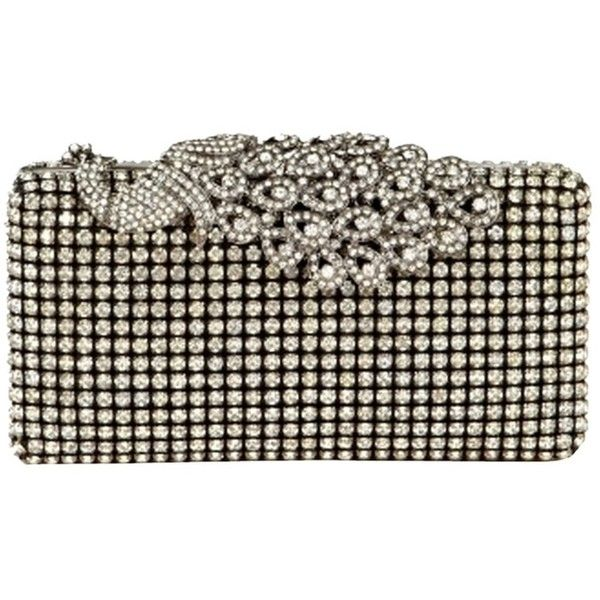 Pre Owned Pea Top Crystal Clutch 150 Liked On Polyvore Featuring Bags