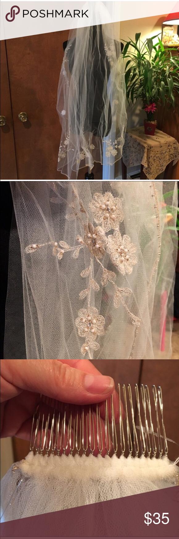 Beautiful NWT Bridal Veil . Accessories Hair Accessories