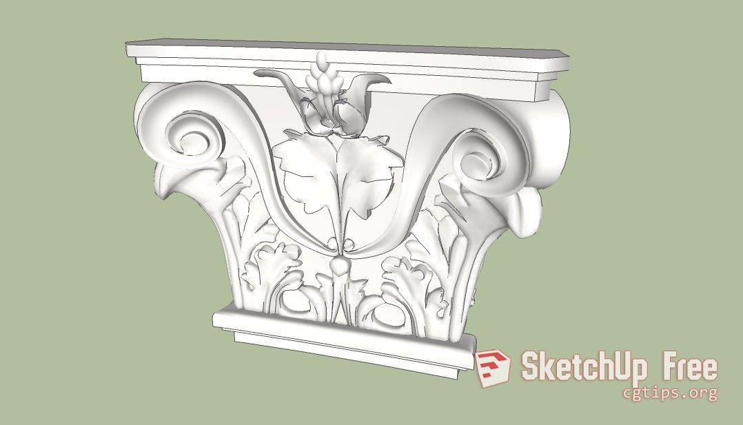 949 Decorative Plaster Sketchup Model Free Download Decorative