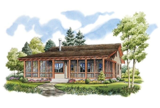 Country Style House Plan 2 Beds 2 Baths 1031 Sq Ft Plan 942 13 Country Style House Plans Cottage Plan Cottage House Plans
