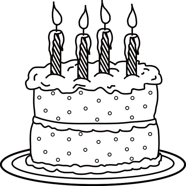 Picture Of Birthday Candle On Cake Coloring Pages Netart Birthday Coloring Pages Cool Coloring Pages Birthday Cake Pictures