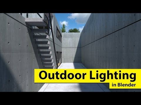 How To Do Outdoor Lighting In Blender