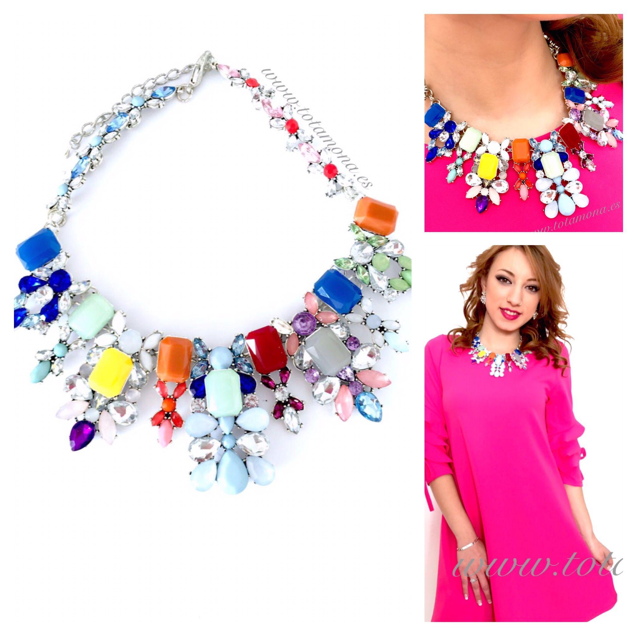 Monadas !! Qué tal va el día ?? 😍 Nosotras súper encantadas con las novedades !! 😍😍😍 Que os parece este collar ?? Súper colorido súper ideal para los nuevos vestiditos 💋  Quieres el tuyo? CÓMPRALO YA 👉🏻 www.totamona.es 💕