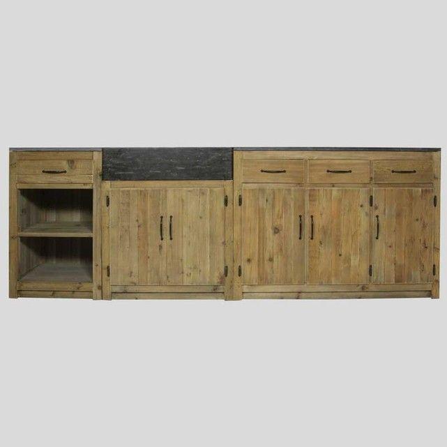 Craquez pour ce meuble de cuisine authentique de 250cm fabriqué en